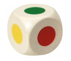Grand Dé avec 6 couleurs 25 mm pour jeu de société