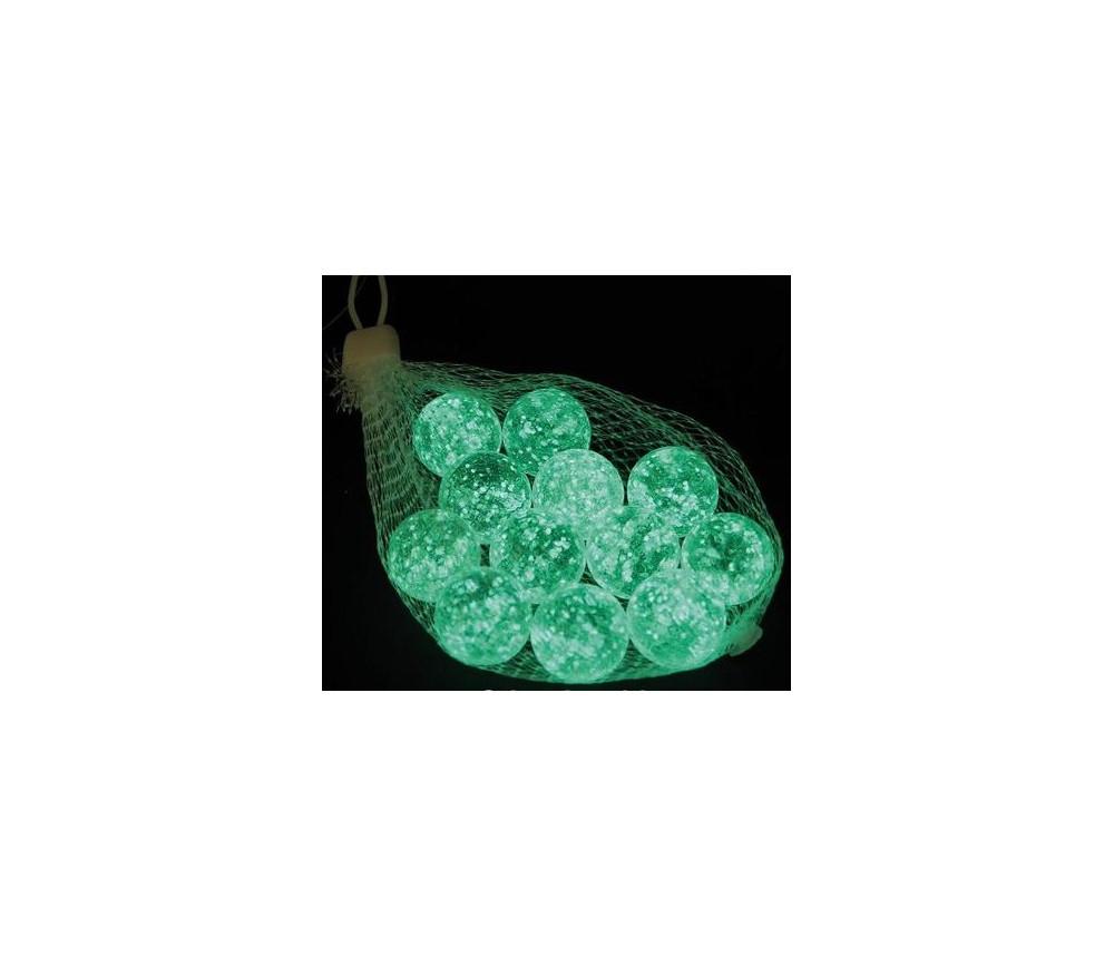 12 billes lumineuses fluorescentes 25 mm