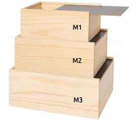 Grand Coffret bois avec couvercle ardoise M3