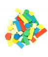 50 Jetons de jeux en bois lot pour tarot, nain jaune, mise 5 couleurs