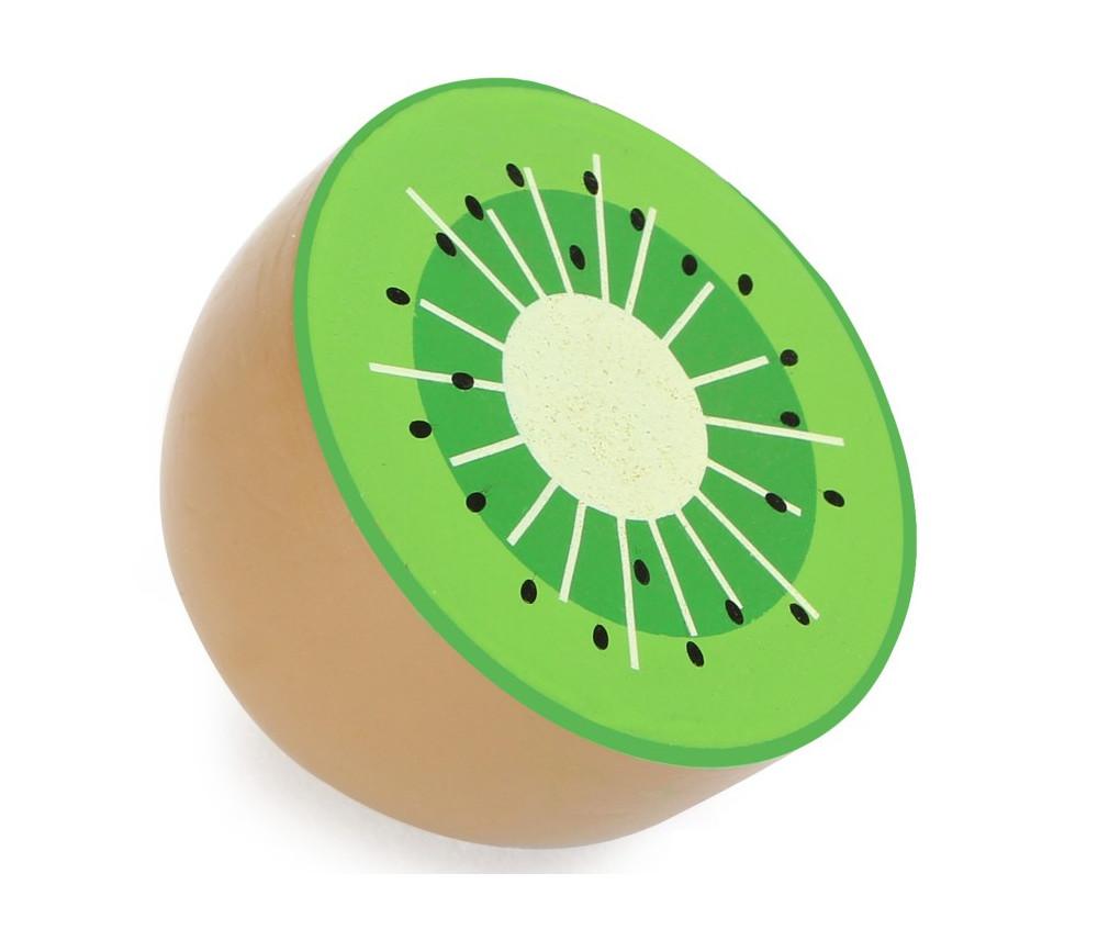 Kiwi en bois vert de 3.7 x 4.9 cm jouet