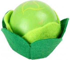 Salade en bois verte de 5.5 x 4.8 cm légume