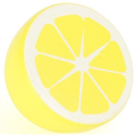 Citron jaune en bois 4.8 x 3.8 cm
