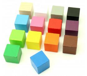Cube en bois 1.6 cm. 16 x 16 x 16 mm  à l'unité