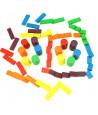 Boite 108 Jetons de jeux bois tarot, nain jaune, mise 6 couleurs