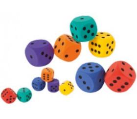 Grand dé en mousse 7 cm pour jeu coloré