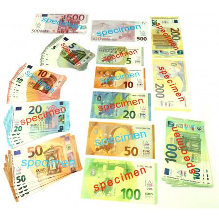 Set 40 billets euros factices pour jeux argent très réalistes