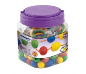 Boite 100 perles rondes colorées 20 mm de diamètre
