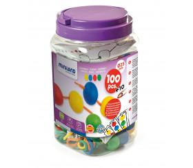 Boite 100 perles rondes colorées 25 mm de diamètre
