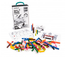 Kit activités Réglettes cuisenaires - 250 cubes et bâtonnets calcul et jeux + fiches