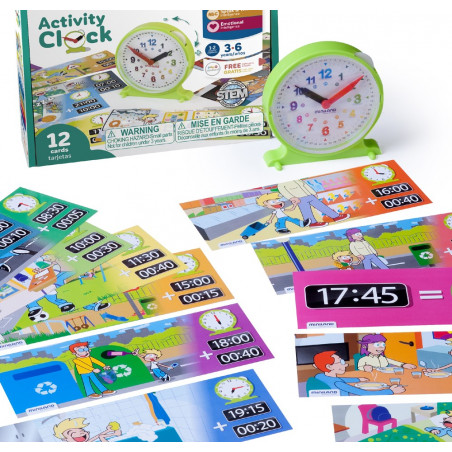 Jeu apprentissage heure - Horloge éducation