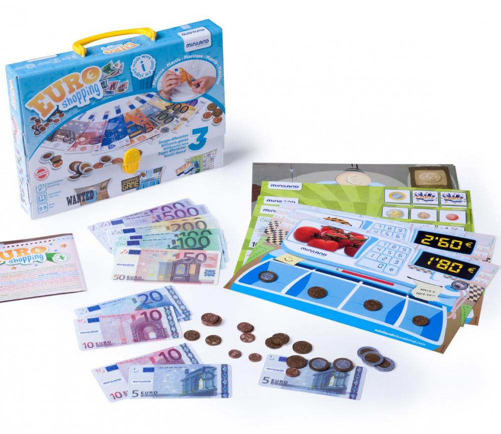 Activités euros - jeux monnaie shopping