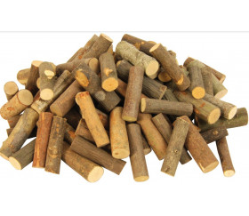 Cylindres en bois brut avec écorce - 1 kg