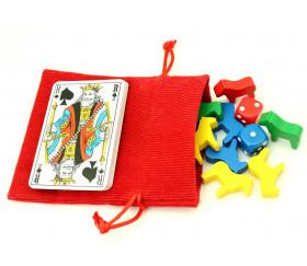 Petit Sac 10 x 12.5 cm - velours épais rouge avec cordon