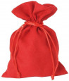 Sac velours 17 x 12 cm rouge avec cordon