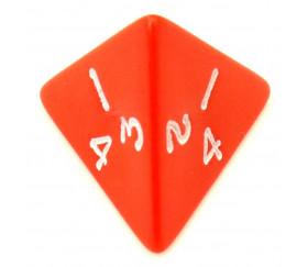 Dé 4 faces pyramide 1 à 4 opaque
