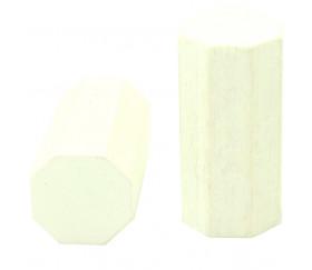 pion octogone blanc 15 x 30 mm en bois pour jeu