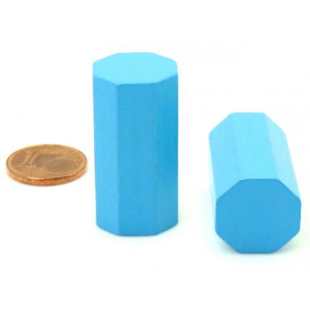 pion octogone 15 x 30 mm en bois pour jeu