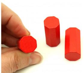 6 Pions octogones 15 x 30 mm en bois pour jeu