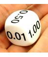 Dé décimal 0.01, 0.05, 0.25, 0.10, 0.50, 1