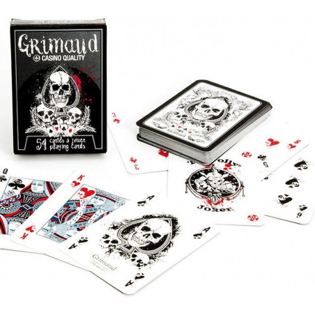 Jeu 54 cartes à jouer Death Poker