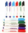 12 Feutres effaçables pointe fine pour ardoise ou tableau blanc - 6 couleurs