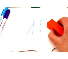 Tableau réponse - ardoise effaçable blanche 20 x 15 cm