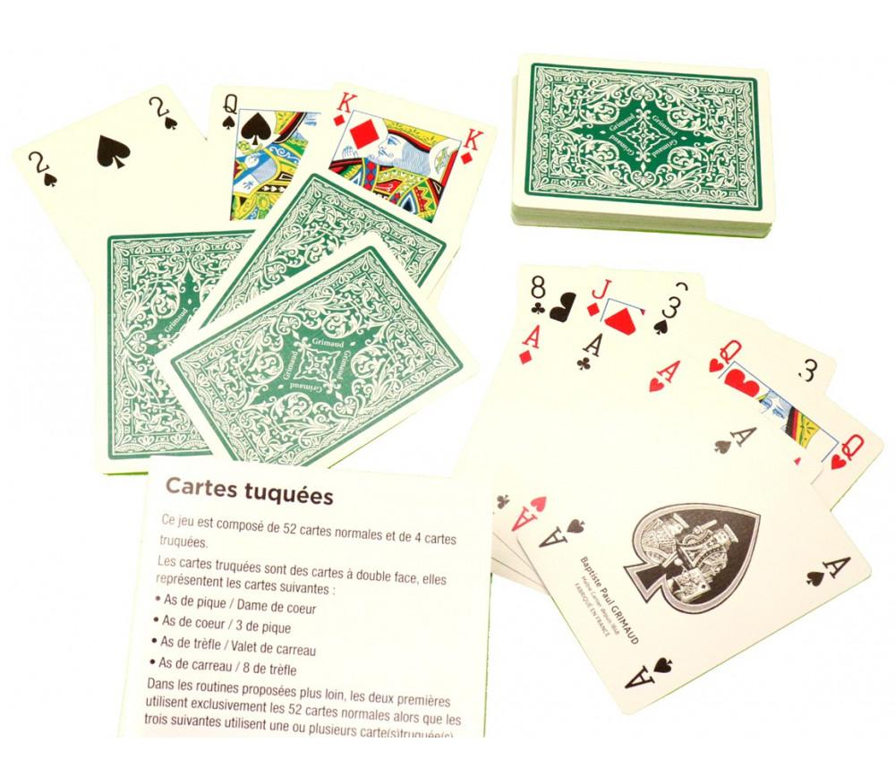 Cartes à jouer magie truquées double face
