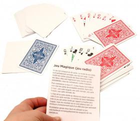 Magie : 56 cartes à jouer truquées radio