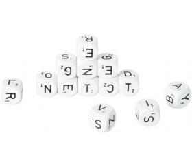 Lot de 13 dés lettres