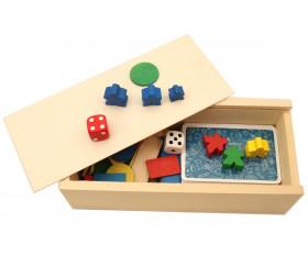 Coffret bois M glissière pour jeu cartes ou accessoires jeux 18.5 x 8.4 x 4.8 cm