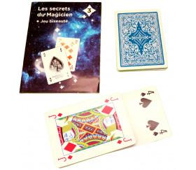 Jeu de cartes biseautées magie