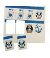 12 mini cartes blanches à impirmer 43,5 x 67,5 mm sur feuille