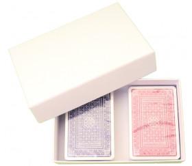 Boite jeu blanche rectangle petit format 151 x 100 x 38 mm