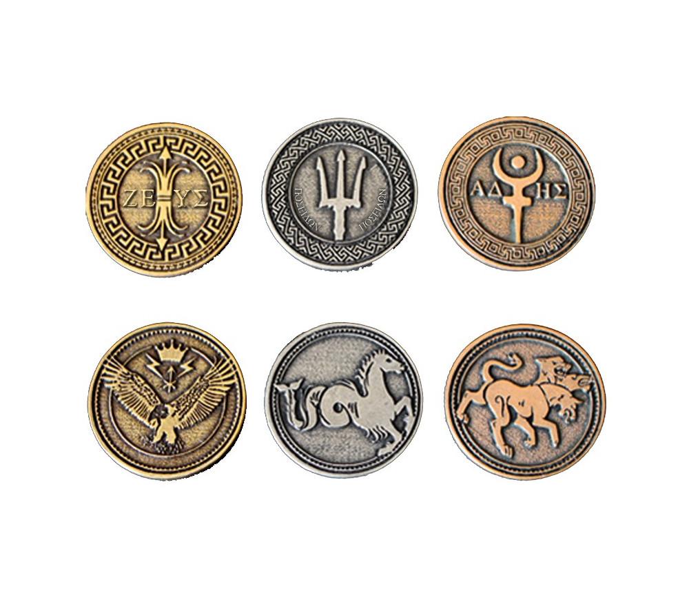 24 Pièces mythologie grecque métal Greek mythology