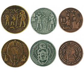 24 Pièces égyptiennes métal Egyptian