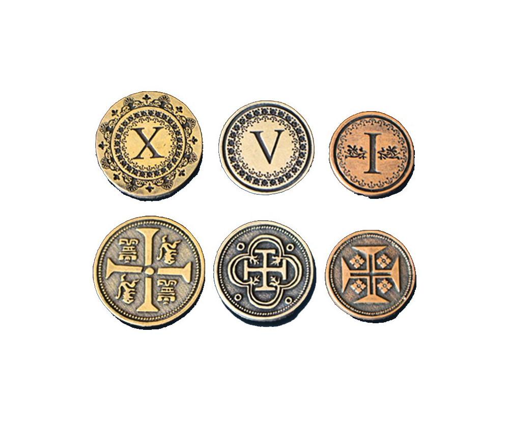 24 Pièces médiévales métal UNITS I V X