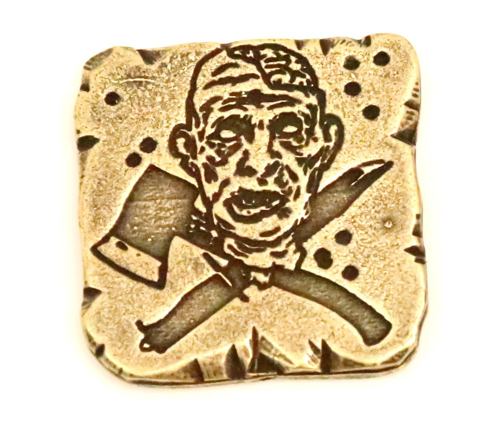Pièce métal doré Zombie