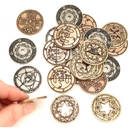 24 Pièces métal Magie Wizard Legendary