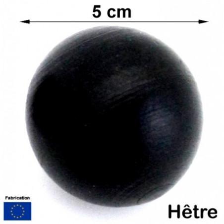 Boule bois NOIRE 50 mm diamètre bille hetre