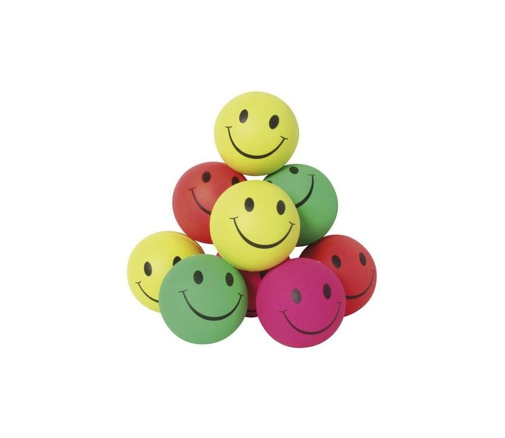 Balle colorée de 6,3 cm smiley pour jeu