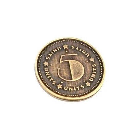 Pièces en métal unité valeur 5