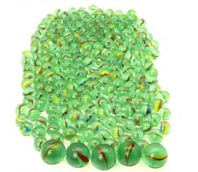 Billes en verre pour jeu lot d'environ 200 billes + 5 boulets