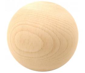 Boule 10 cm diamètre hêtre. Grosse boule bois