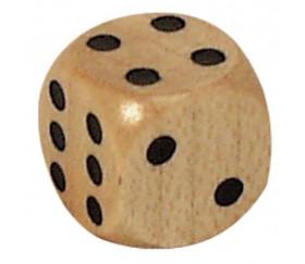 Lot 2 Dés bois 12 mm de 1 à 6 pour jeu de société