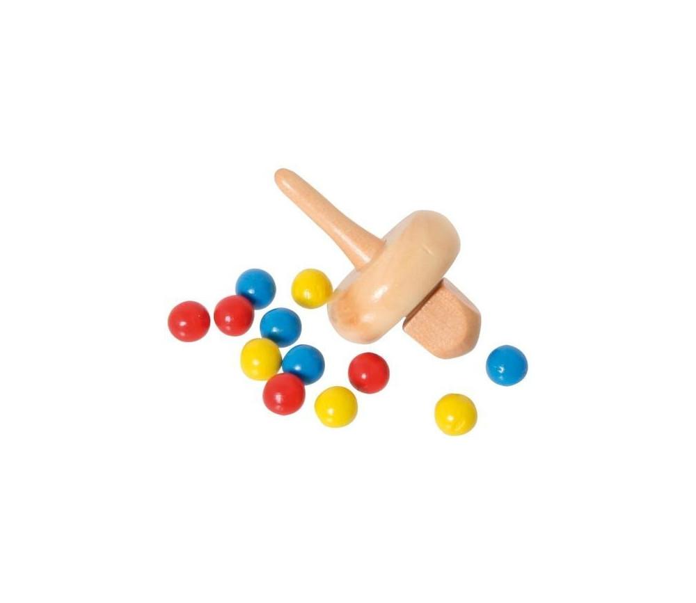 Set toupie + billes pour jeu de super roulette