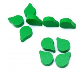 Jeton pion feuille goutte verte pour jeux