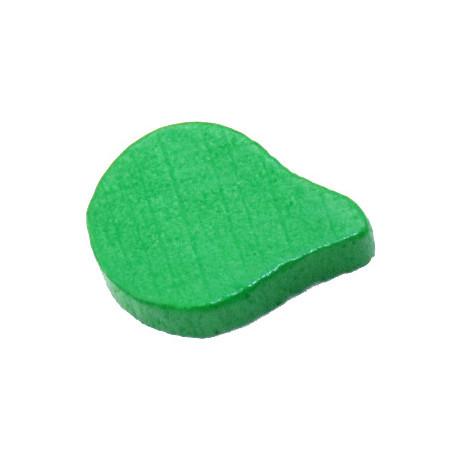 Jeton feuille goutte verte -15 x 10 x 8 mm pour jeu