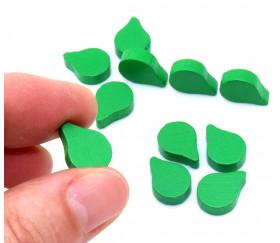 Jetons pion feuille verte pour jeux