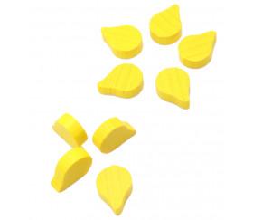 Jeton pion goutte huile jaune pour jeux société